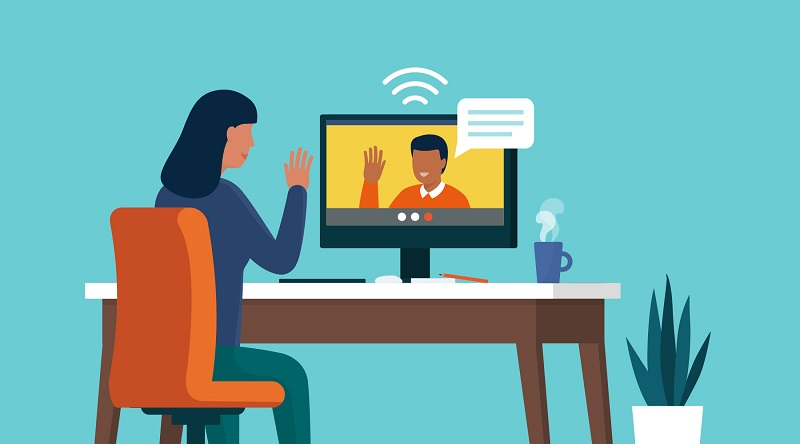 Positive video call with your customer during debt collection